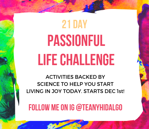 PASSIONFUL LIFE - 21 DAY CHALLENGE - PURPOSE DRIVEN REVOLUTION